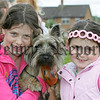 Rachel and Ursula McGeown with their dog Smokey at the pet show during the Markethill festival. 06W32N12