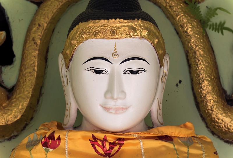 Buddha statue, Shwedagon Pagoda, Yangon (Rangoon), Myanmar (Burma)