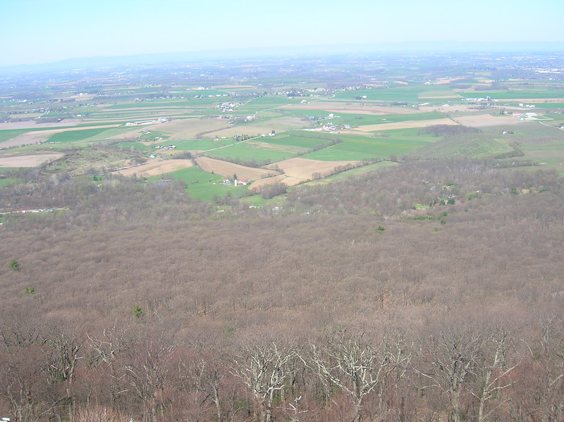 The view from High Rocks along the PA / MD border