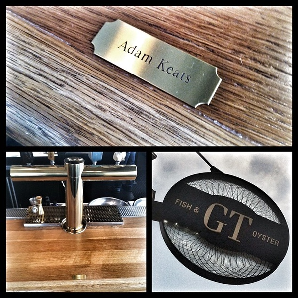 The most amazing gift EVER?! I now have a name placard at the GT Bar! Thank you @giuseppetentori SO much!!!
