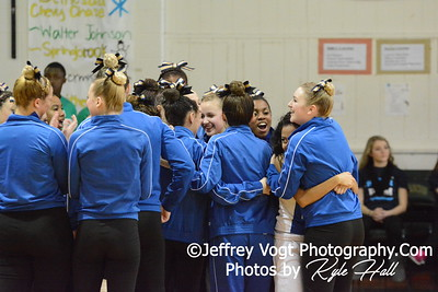 1-17-2015 Gaithersburg HS Varsity Poms at Damascus HS Invitational, MCPS Championship, Photos by Jeffrey Vogt Photography with Kyle Hall