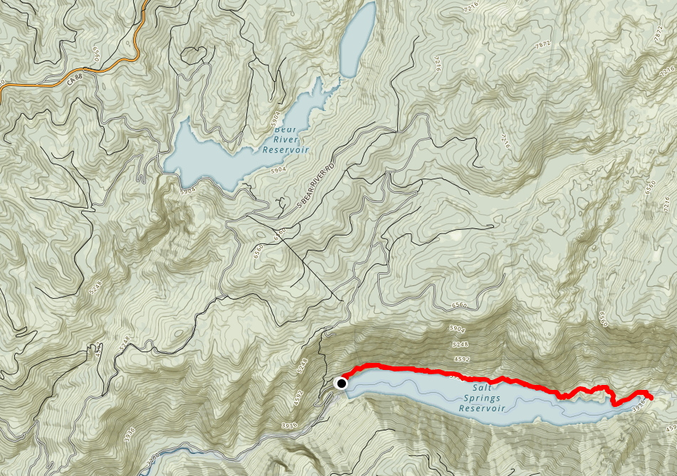 Salt Springs Reservoir Trail Map and GPX