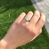 2.03ct Emerald Cut Diamond Ring, GIA K IF 3