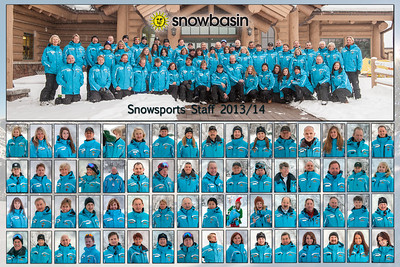 2013-14 Snow Sports Staff Poster