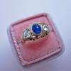 1.75ctw Cab Sapphire and Old European Cut Diamond 3-stone Ring 0