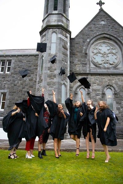 30/10/2019. Waterford Institute of Technology (WIT) Conferring Ceremonies. Pictured are Rachel Rogers Waterford city Sarah Power Carrick on Suir, Hannah Brennan Waterford City, Chloe O'Keefe Waterford city, Aoife Whitty New Ross, Louise Honey Rosslare and Mia Doyle Gorey . Picture: Patrick Browne