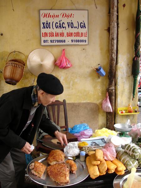street side butcher, Hanoi
