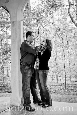 Lauren and Scott B/W Engagement Photos