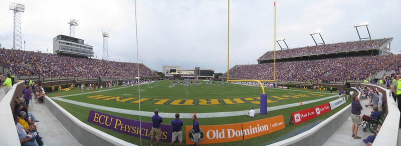 9/11/2010 - ECU vs. Memphis - End zone panoramic