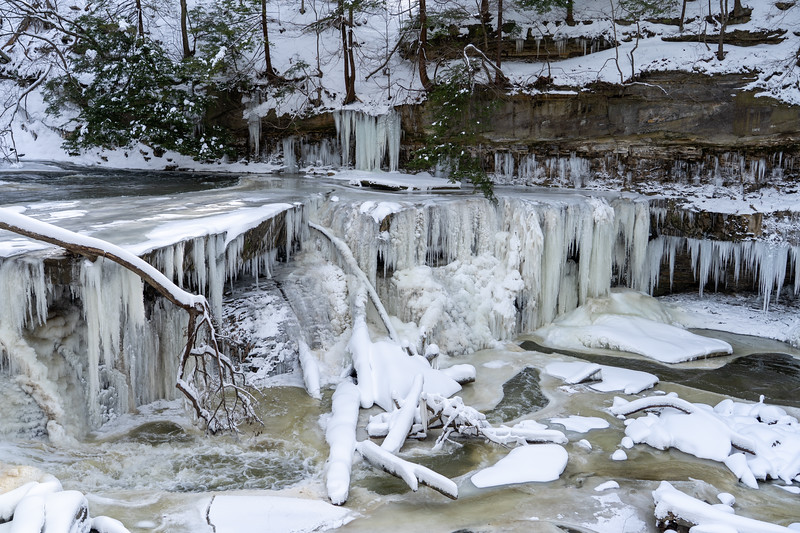 Great Falls of Tinkers Creek in Bedford, Ohio