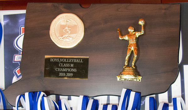 06/06/19 Wesley Bunnell | Staff #1 Newington defeated #2 Cheshire in the boys volleyball Class M championship game at Shelton High School on Thursday night.