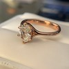 1.05ct Oval Cut Diamond Solitaire, GIA H SI1 26