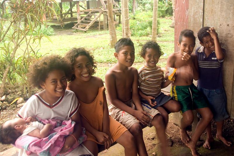 Village Kids, Rennell Island - Solomon Islands