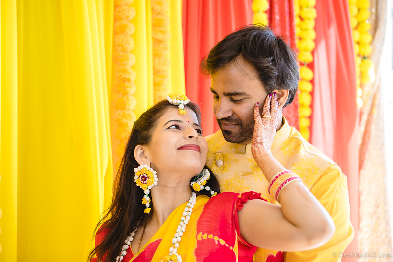 Naveen and Gayathri Haldi