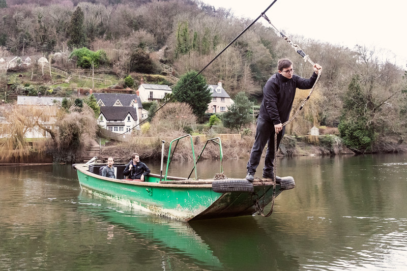 No customer refused . The Publicans Punt at the Saracens Head Inn, Symonds Yat, Ross - on - Wye