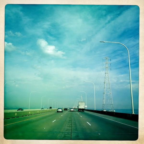 15 Nov 2012: Crossing the San Mateo Bridge