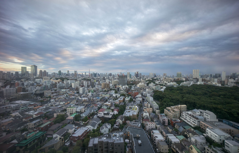View from our suite at the Westin Tokyo