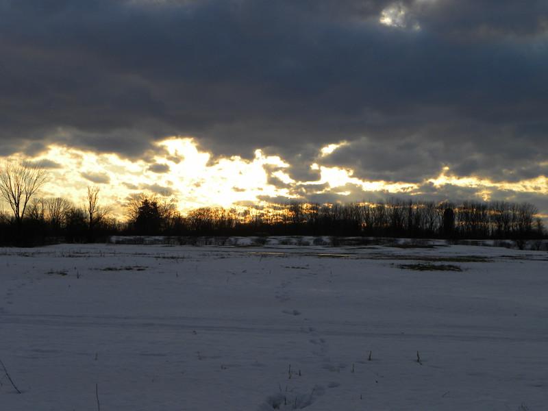 Setting Sun through the Clouds