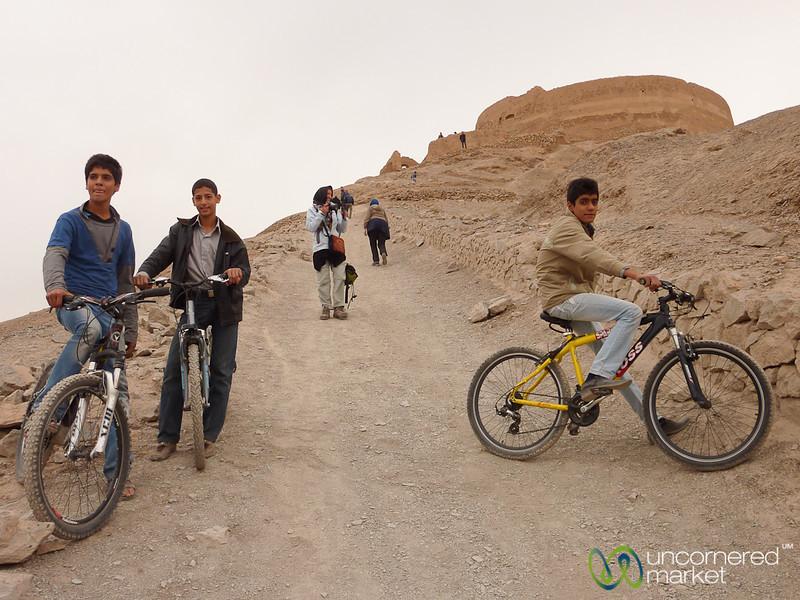 Teenage Bicyclists in Yazd, Iran