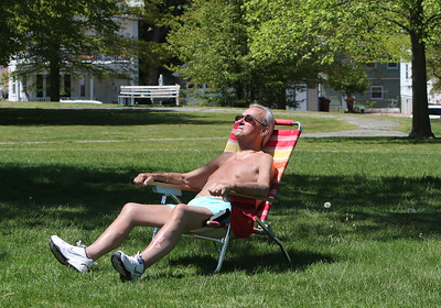 Sunbather in Fort Hill Park Lowell 052120