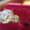 Old European Cut Diamond 3-Stone Trellis Setting, by Steven Kirsch 5