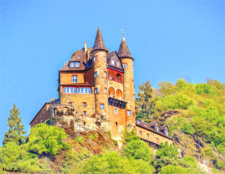 Castle in Colored Pencil