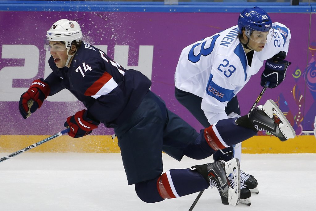 . <p><b>22. T.J. OSHIE </b> <p>Rest of hockey not quite as easy as penalty shots. <p>   (AP Photo/Matt Slocum)