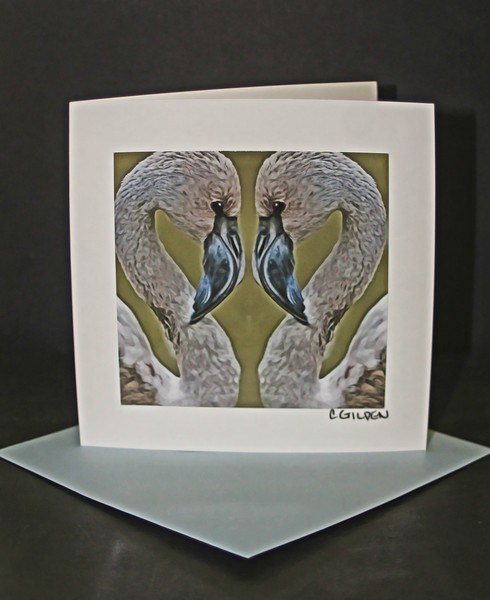 Flamingo Love 1 Greeting Card