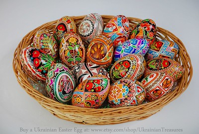 Ukrainian Easter Eggs, Ukrainian Pysanky hand painted by Anna Perun
