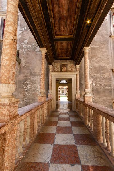 Hallway in Buonconsiglio Castle