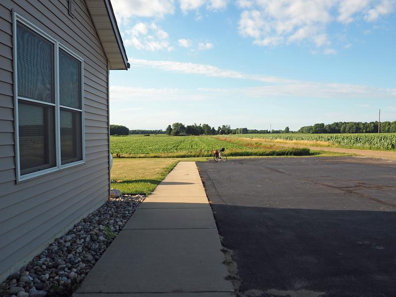 Looking north from Sebewa Township Hall