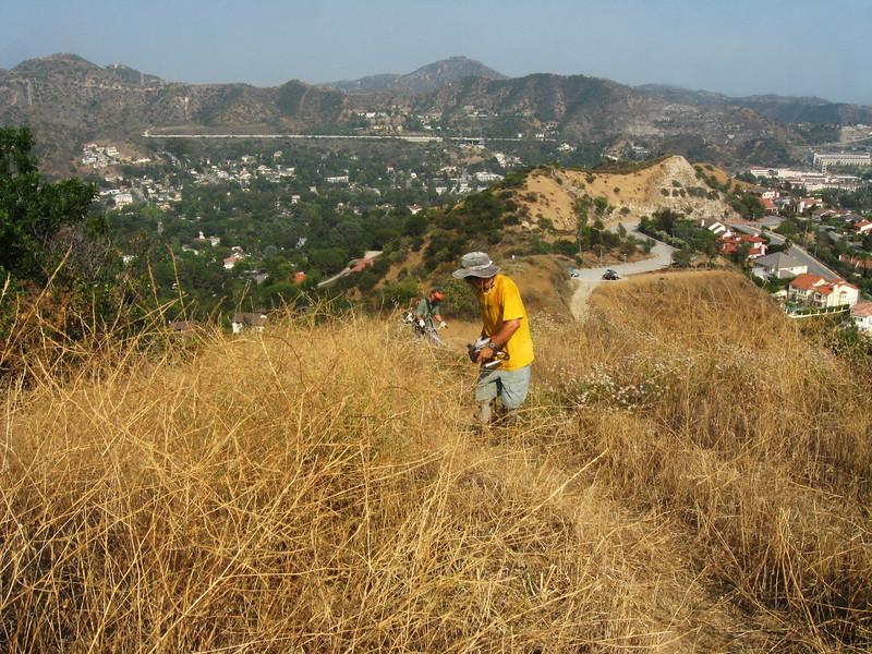 20080625003-Glendale Las Flores Trailwork.JPG