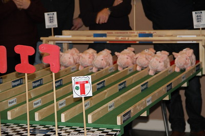 Highworth Town Juniors  Pig Racing at the club house.
