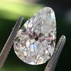 2.61ct Antique Pear Cut Diamond GIA I SI1 14