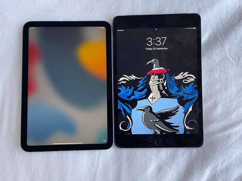 Comparing iPad mini 2021 aka iPad mini 6 with iPad mini 4