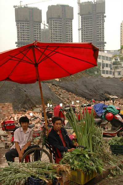 Market in Construction Site - Chengdu, China