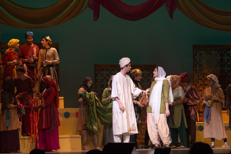 Hajj and Marsinah -- Kismet, Montgomery Blair High School spring musical, April 15, 2016 performance (Silver Spring, MD)