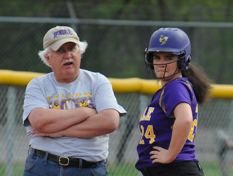 The Rochester Falcons and Avondale Yellow Jackets split an OAA White doubleheader with Avondale winning game one 12-9,  and the Falcons taking the nightcap 9-6.  The games were played on Wednesday May 9, 2018 at Rochester HS.  (Oakland Press photo by Ken Swart)