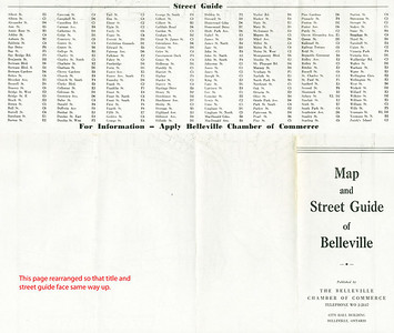 Belleville Ontario Map from about 1950