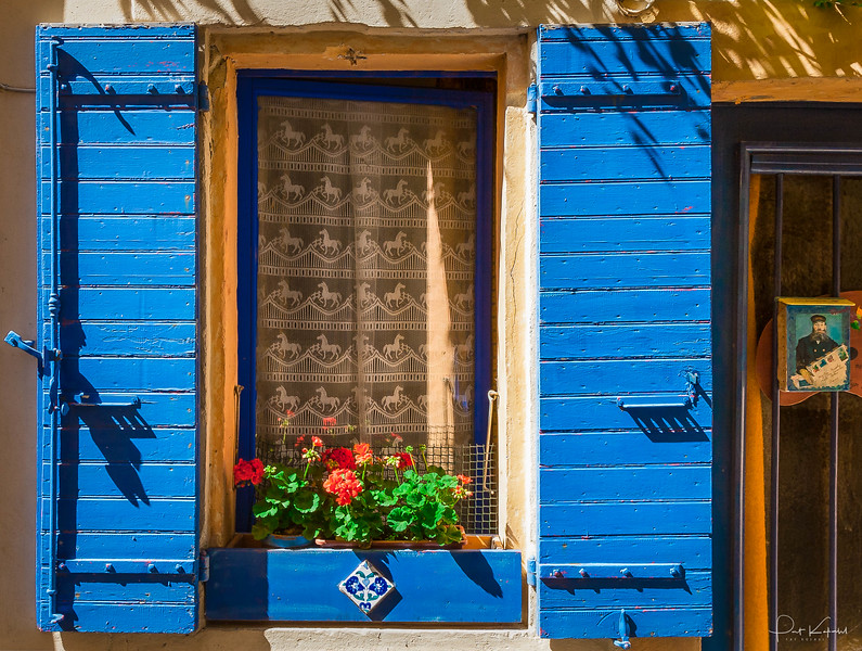 Arles - Flower Box & Blue Shutters