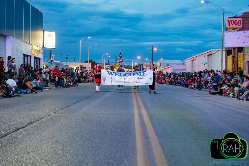 Gallup Ceremonial Night Parade 8-10-17