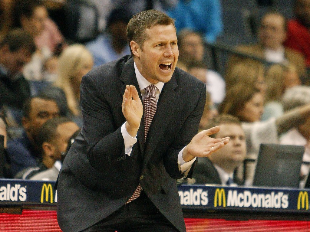 ". <p><b> Memphis� Dave Joerger, after being courted by the Timberwolves to be their next coach, finally decided that he�d rather � </b> <p> A. Keep coaching the Grizzlies <p> B. Take a season or two off <p> C. Stick needles into his eyeballs <p><b><a href=\' http://www.twincities.com/sports/ci_25834486/report-timberwolves-coaching-candidate-dave-joerger-remain-memphis\' target=""_blank\"">LINK</a></b> <p>   (AP Photo/Lance Murphey)"