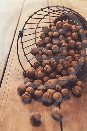 Walnuts in basket