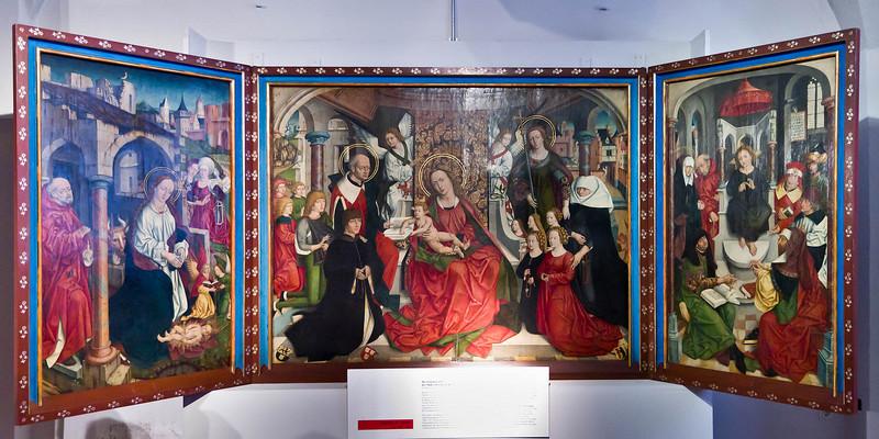 Nördlingen. Stadtmuseum. Familienaltar des Malers Friedrich Herlin (1488)