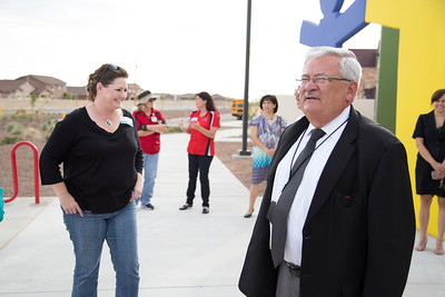 Board visit to Puentes and Butler Schools
