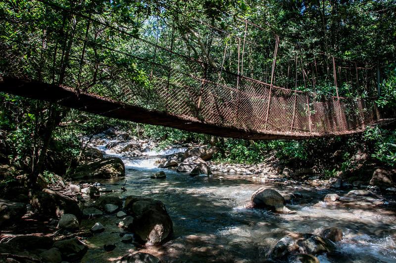 Hanging bridge in Tapanti National Park, Costa Rica