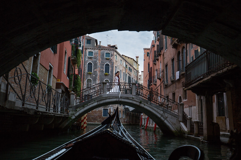 We saw lots of wedding photos being taken in Italy (Venice and Florence, in particular). We saw this couple from the gondola as we emerged from under a bridge.
