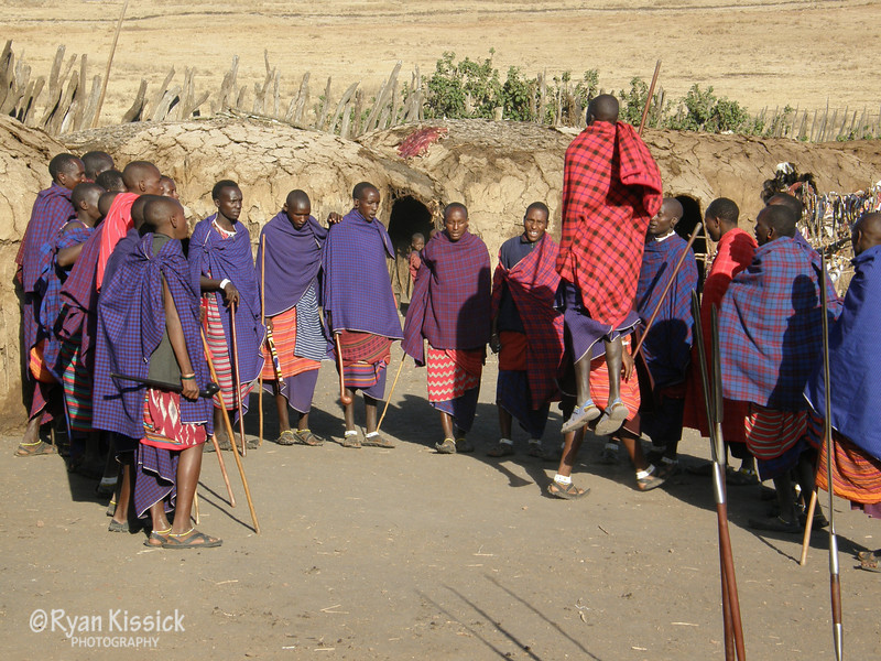 The Maasai men are well-known for their incredible jumping ability