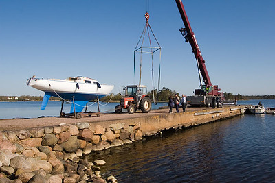 Boat launching 2007