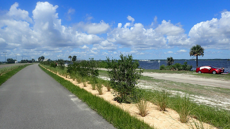 Bike path with Indian River Lagoon in view